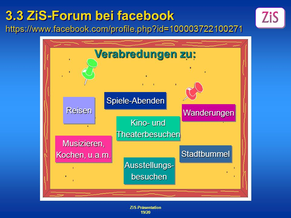 3. 3 ZiS-Forum bei facebook https://www. facebook. com/profile. php