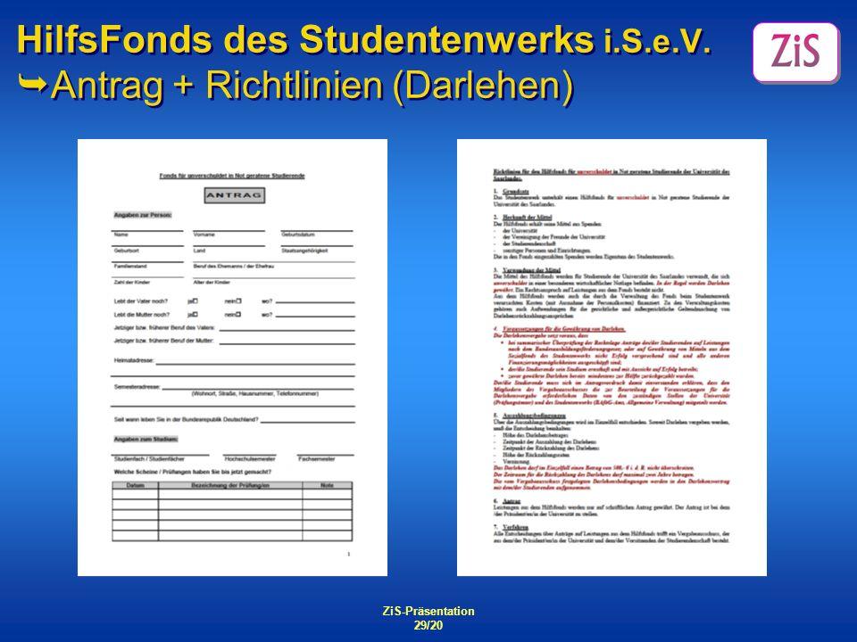 HilfsFonds des Studentenwerks i. S. e. V