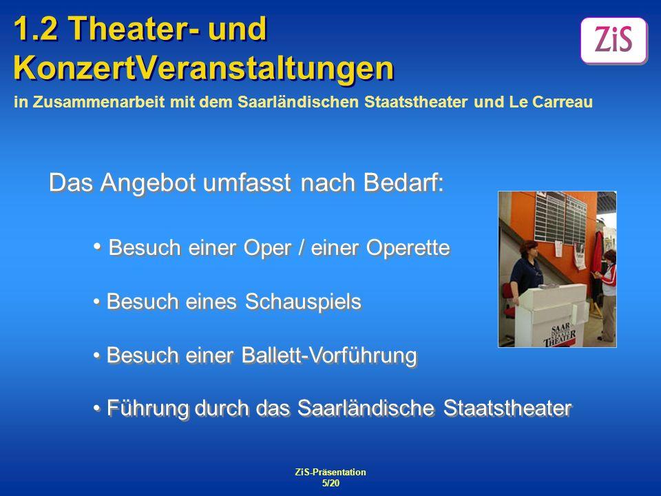 1.2 Theater- und KonzertVeranstaltungen