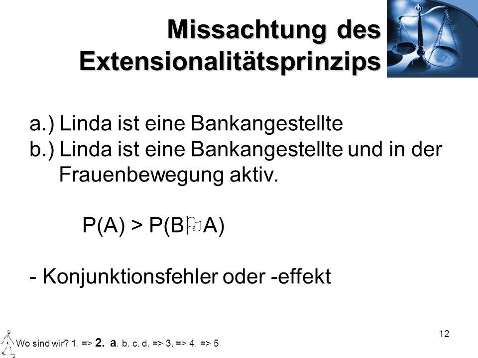 Missachtung des Extensionalitätsprinzips