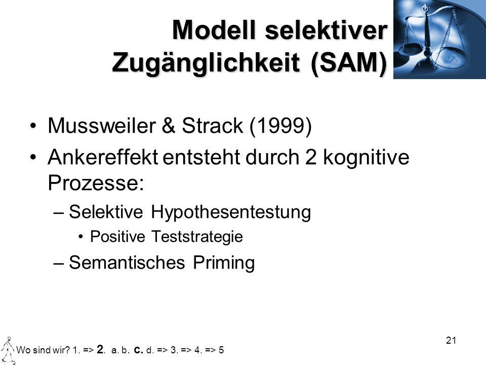 Modell selektiver Zugänglichkeit (SAM)
