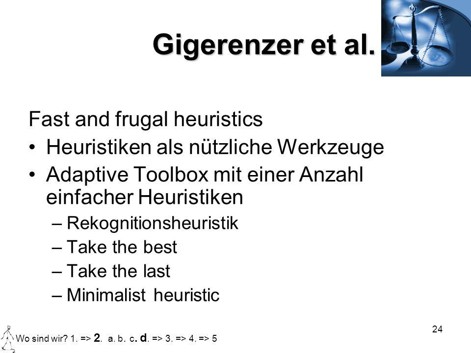 Gigerenzer et al. Fast and frugal heuristics