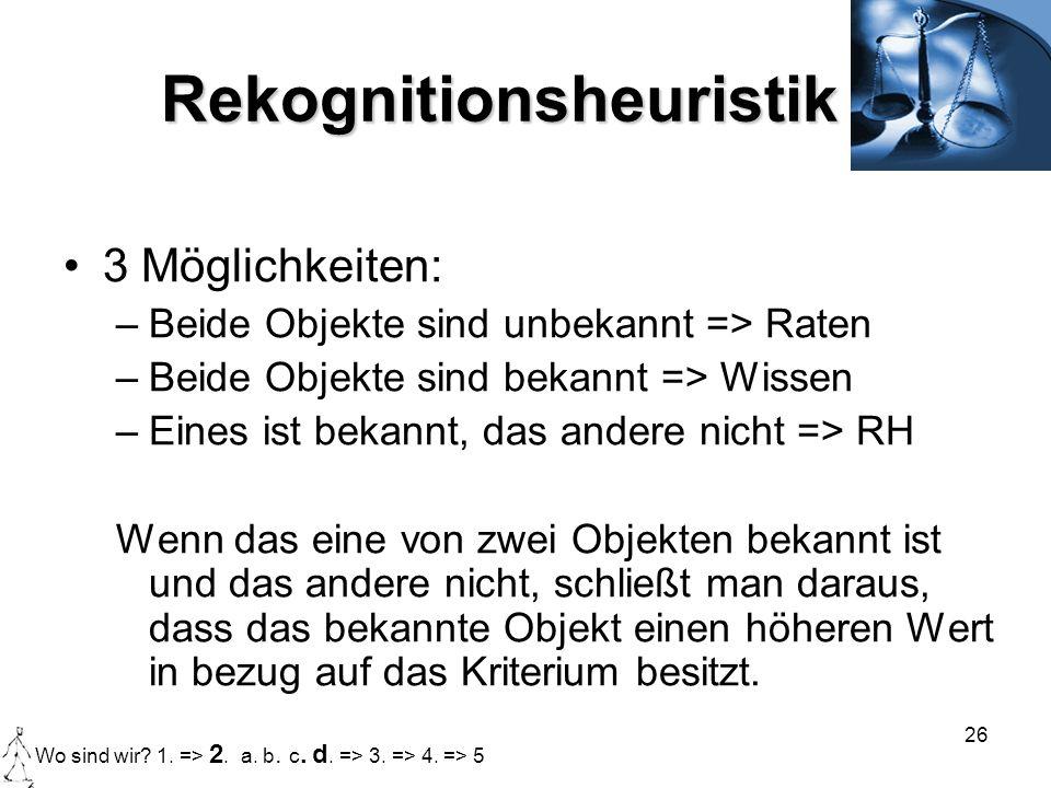 Rekognitionsheuristik