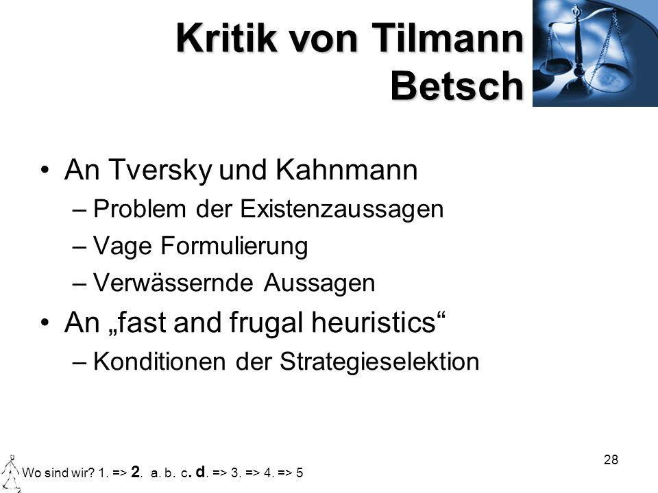 Kritik von Tilmann Betsch
