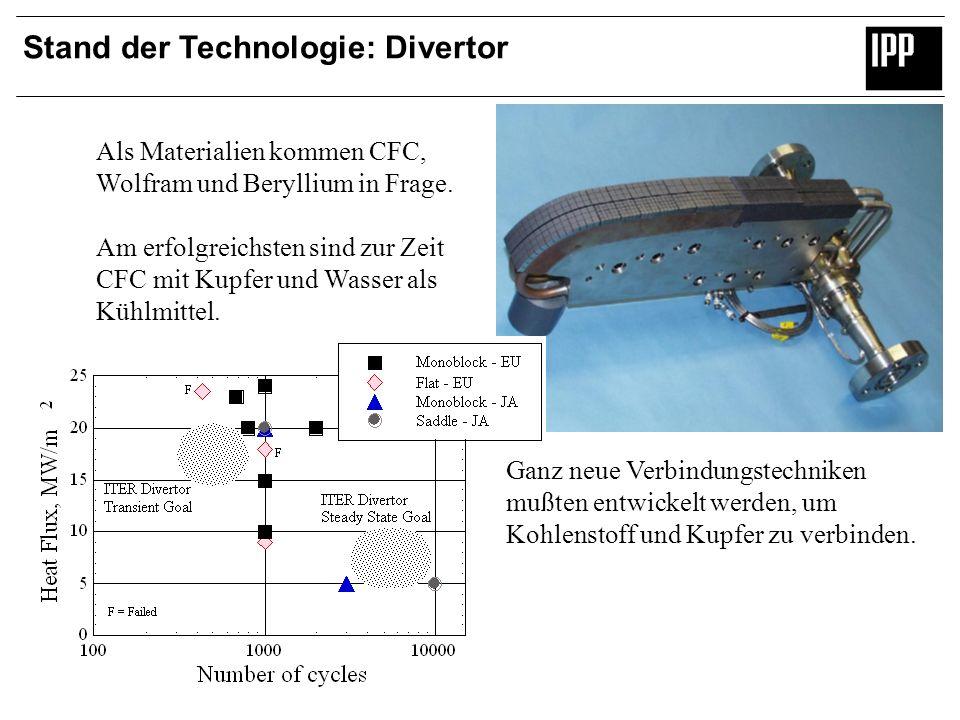 Stand der Technologie: Divertor