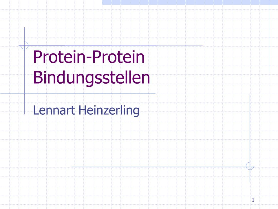 Protein-Protein Bindungsstellen