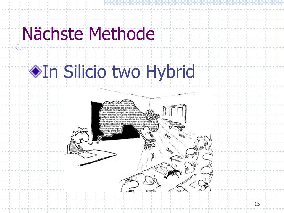 Nächste Methode In Silicio two Hybrid