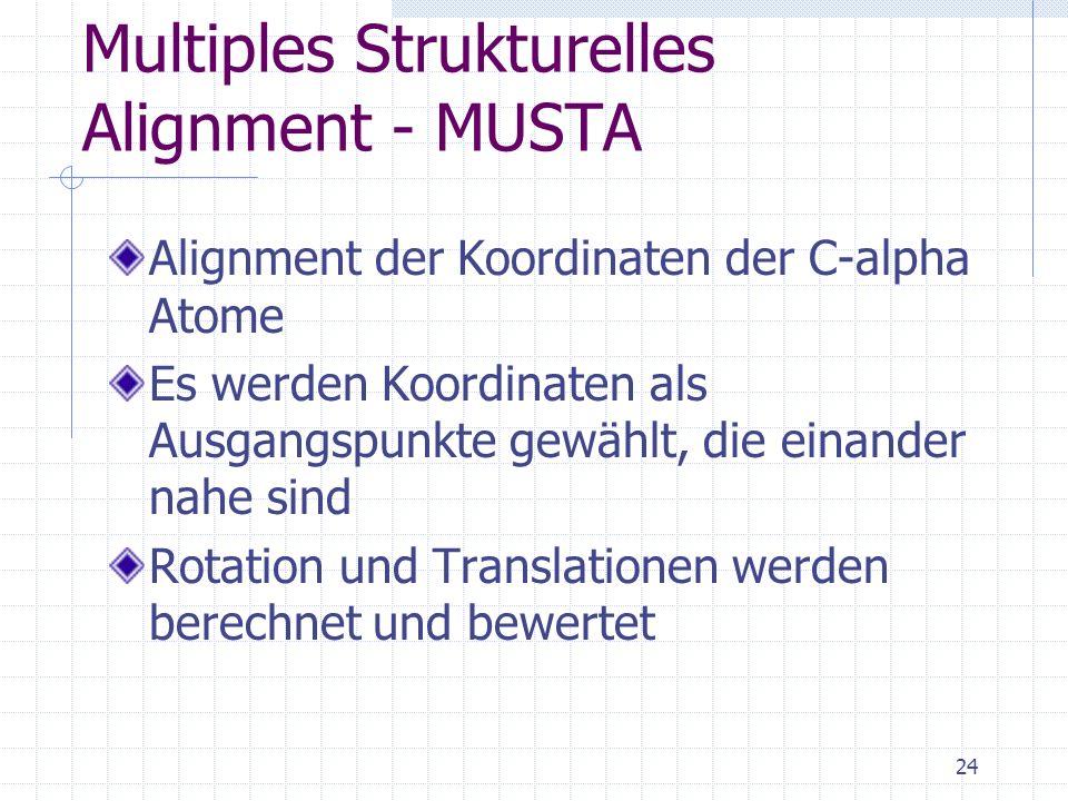 Multiples Strukturelles Alignment - MUSTA