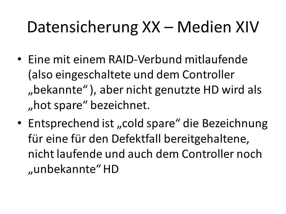 Datensicherung XX – Medien XIV