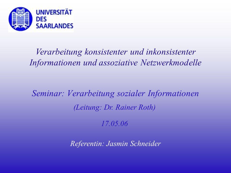 Seminar: Verarbeitung sozialer Informationen