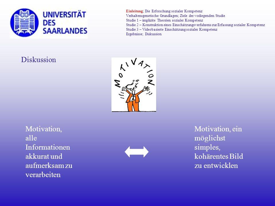 Motivation, alle Informationen akkurat und aufmerksam zu verarbeiten