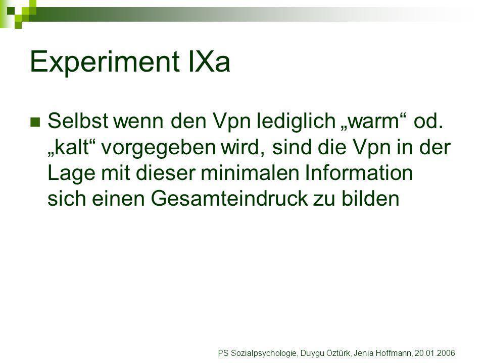 Experiment IXa