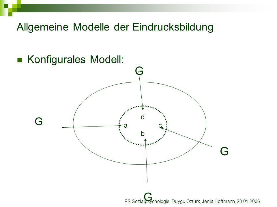 Allgemeine Modelle der Eindrucksbildung