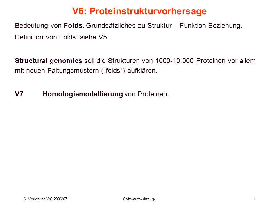 V6: Proteinstrukturvorhersage