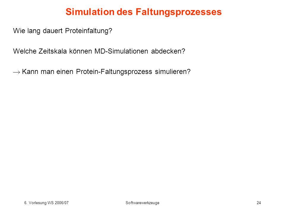Simulation des Faltungsprozesses