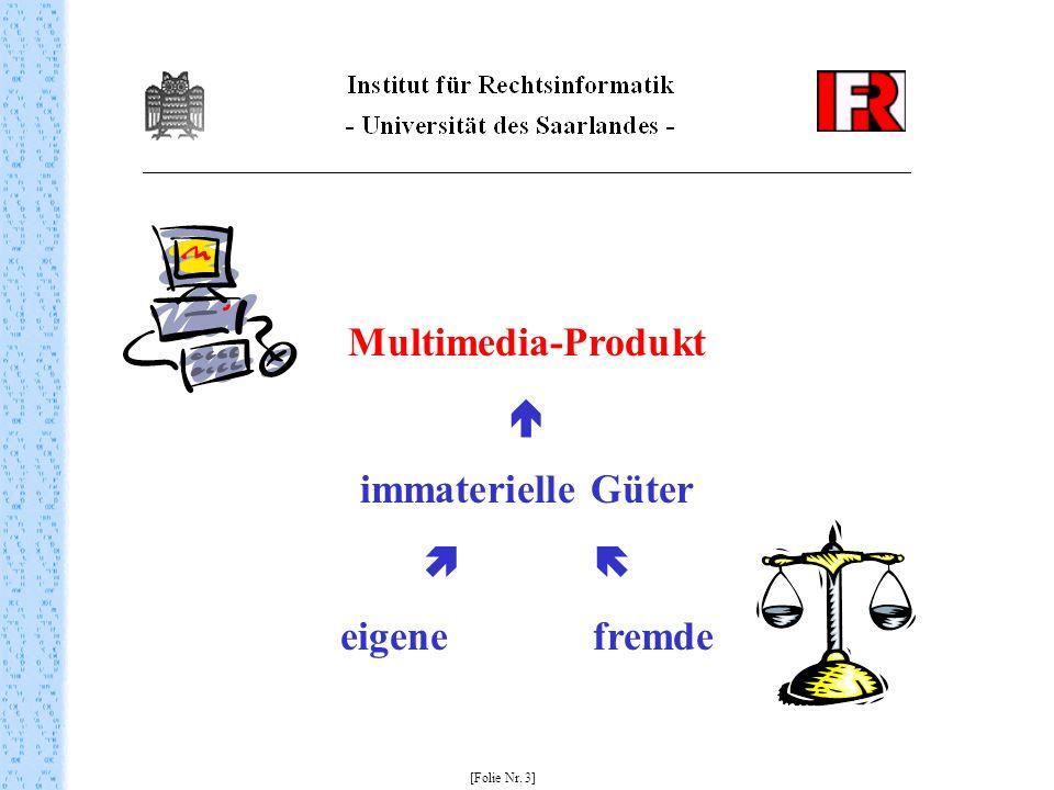 Multimedia-Produkt  immaterielle Güter   eigene fremde