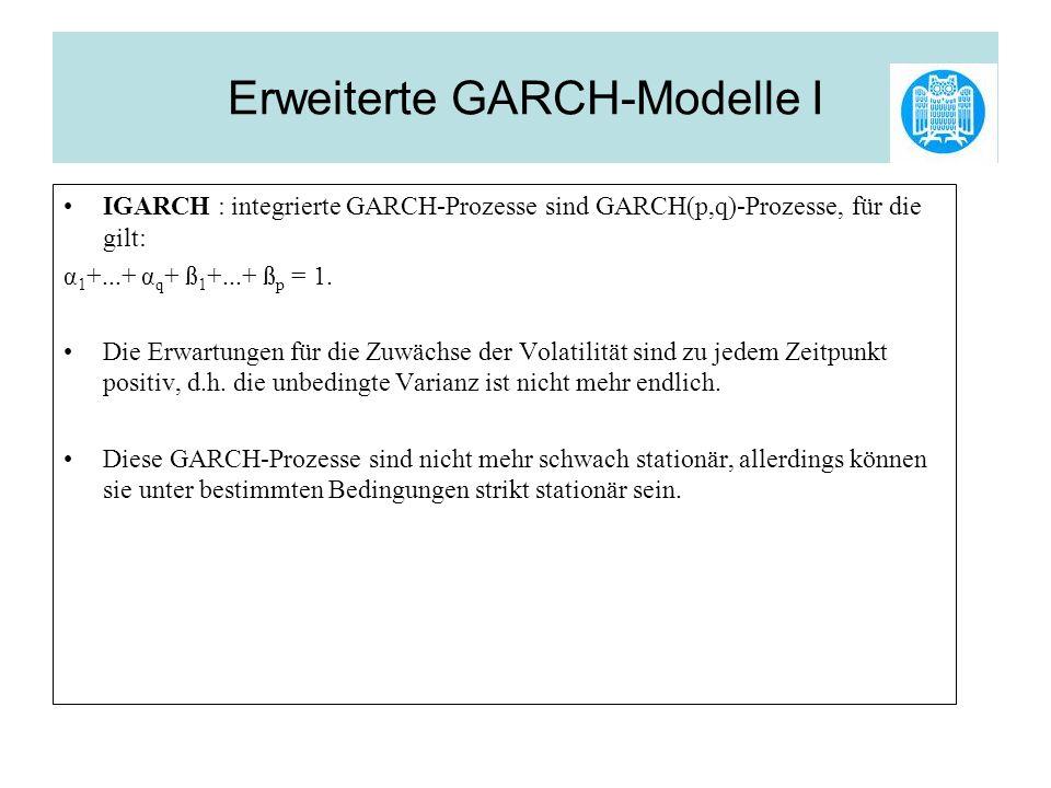 Erweiterte GARCH-Modelle I