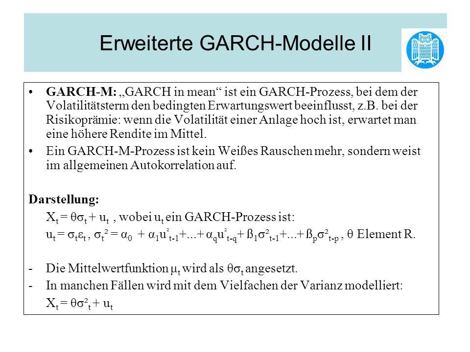 Erweiterte GARCH-Modelle II