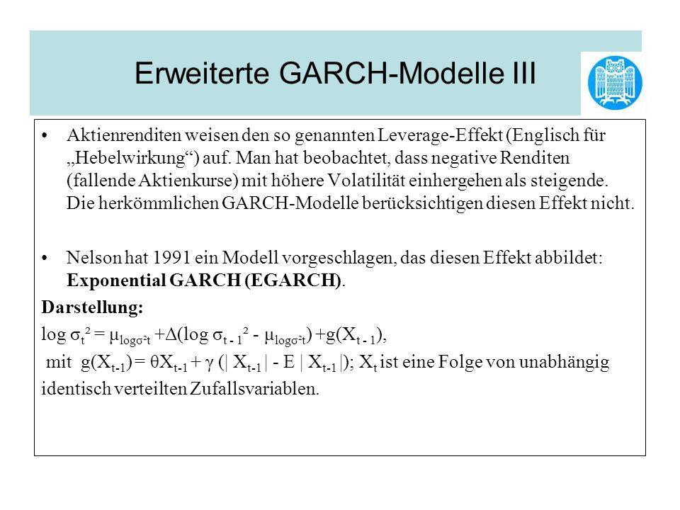 Erweiterte GARCH-Modelle III