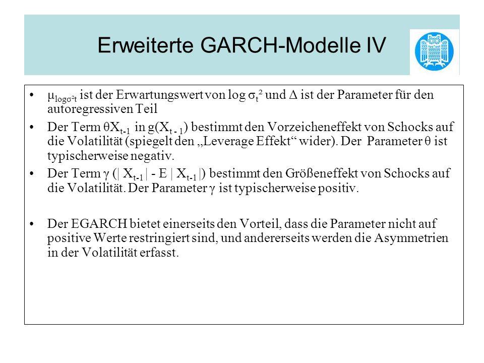 Erweiterte GARCH-Modelle IV