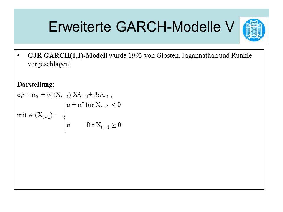 Erweiterte GARCH-Modelle V