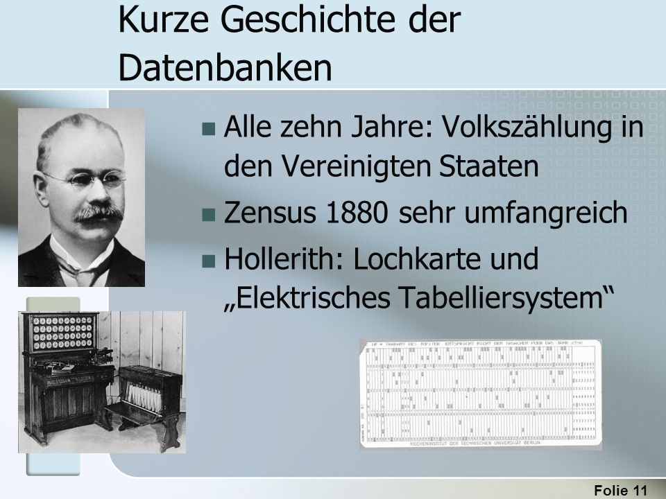 Kurze Geschichte der Datenbanken