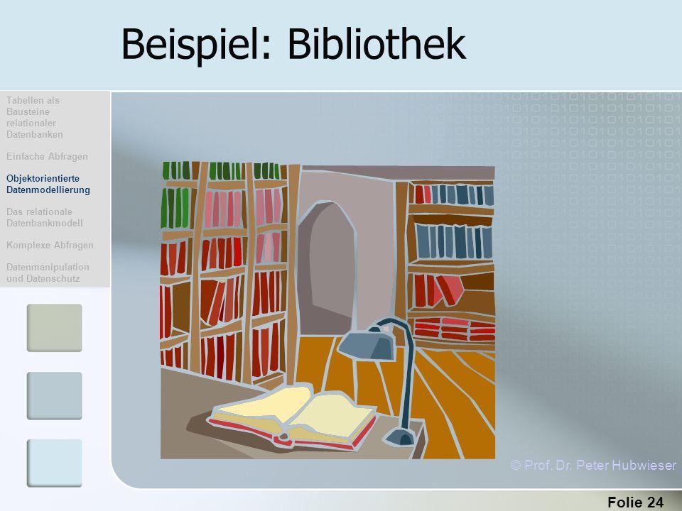 Beispiel: Bibliothek © Prof. Dr. Peter Hubwieser