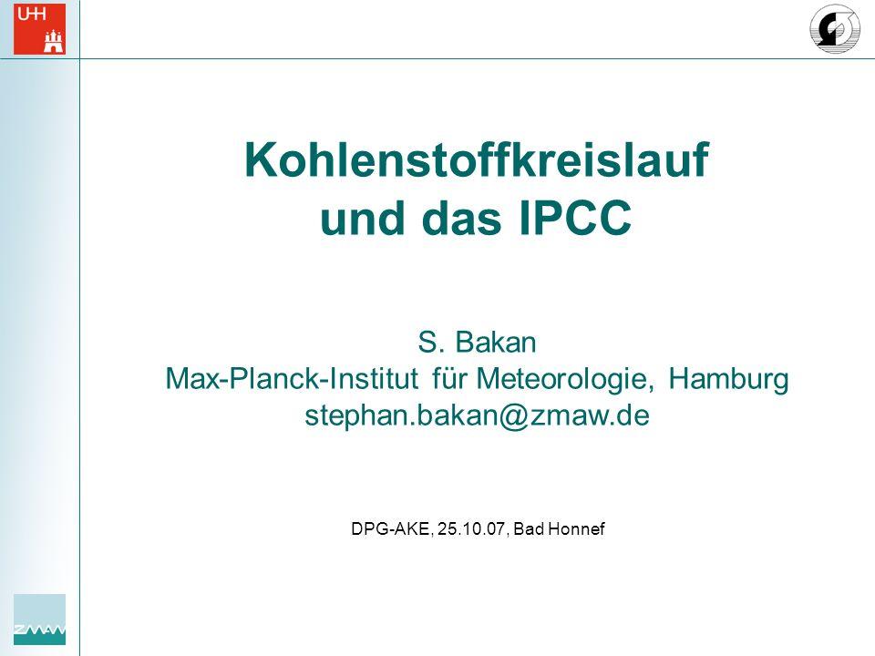 Kohlenstoffkreislauf und das IPCC