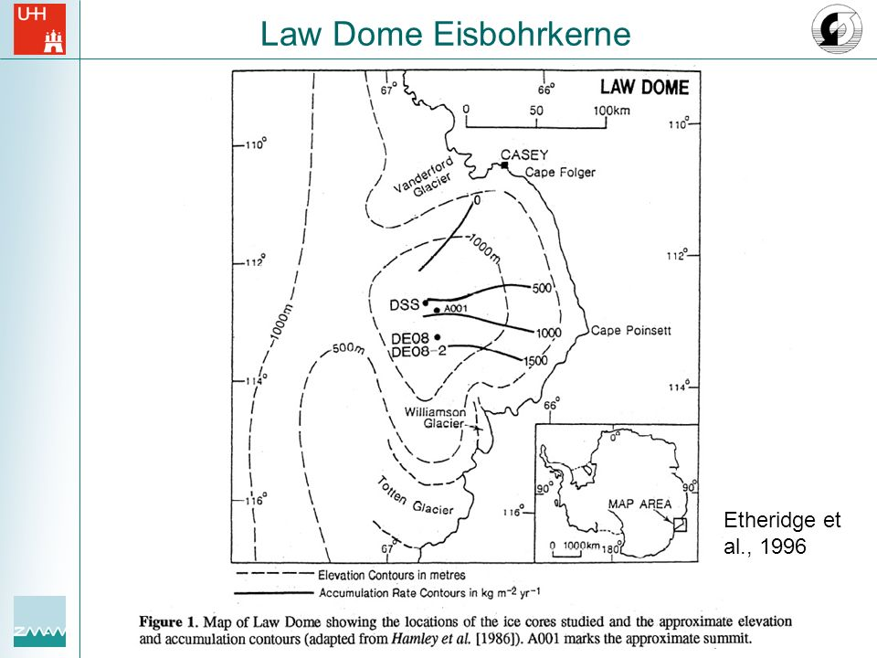 Law Dome Eisbohrkerne Etheridge et al., 1996