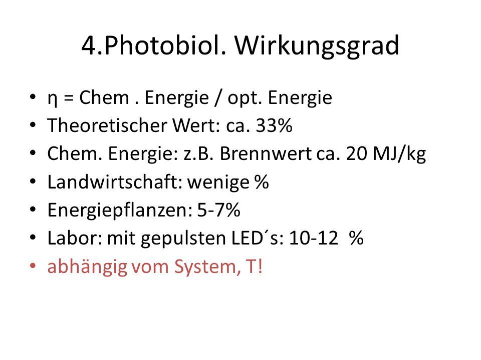 4.Photobiol. Wirkungsgrad