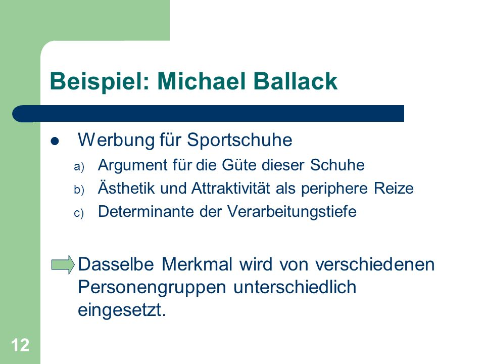 Beispiel: Michael Ballack