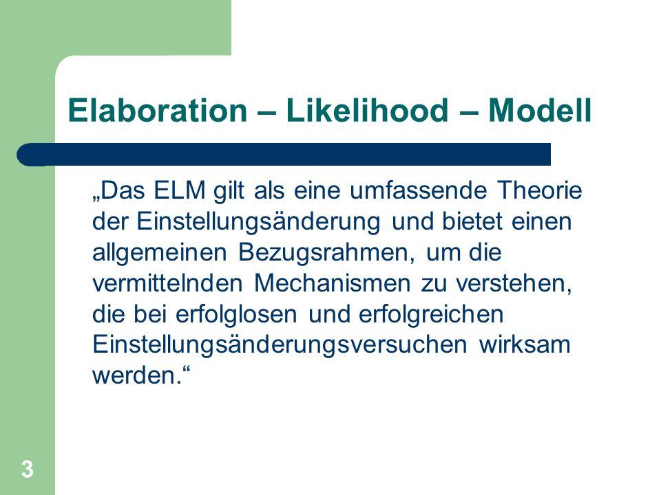 Elaboration – Likelihood – Modell