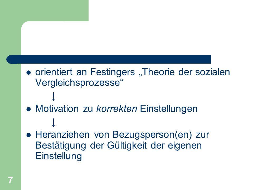 """orientiert an Festingers """"Theorie der sozialen Vergleichsprozesse"""