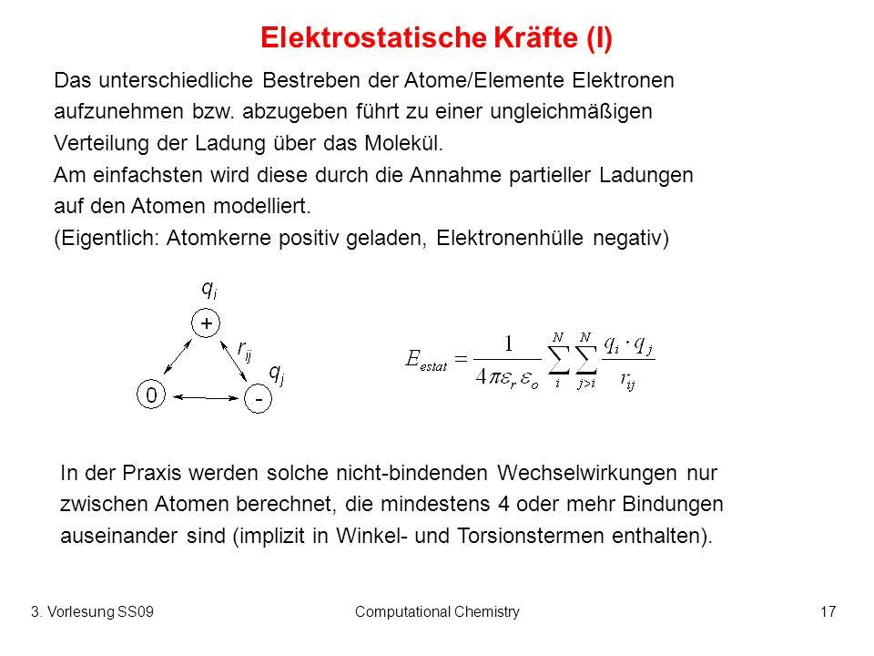 Elektrostatische Kräfte (I)