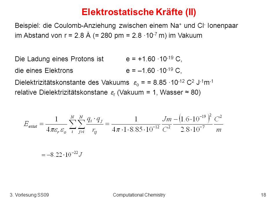Elektrostatische Kräfte (II)