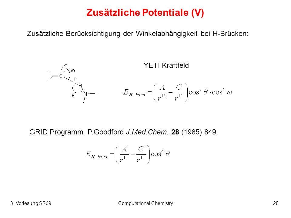 Zusätzliche Potentiale (V)