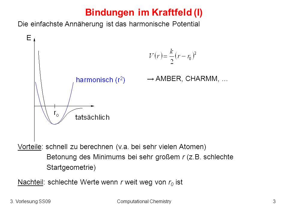 Bindungen im Kraftfeld (I)