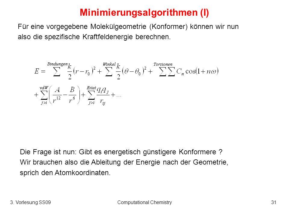Minimierungsalgorithmen (I)