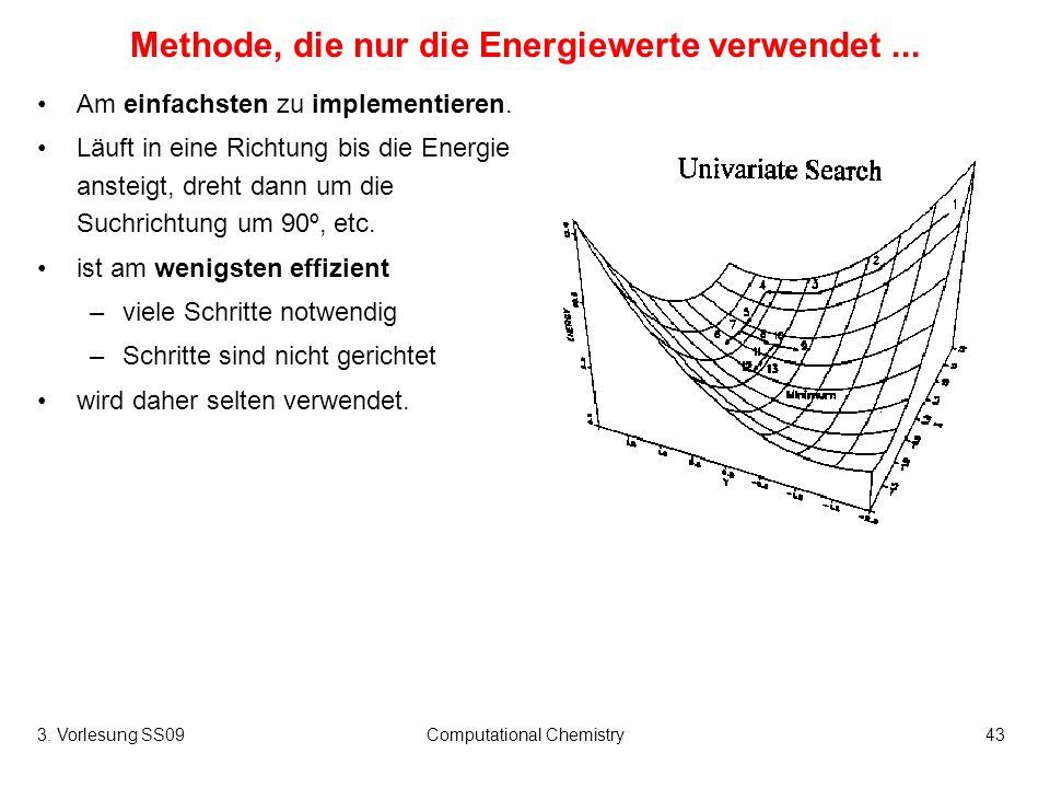 Methode, die nur die Energiewerte verwendet ...