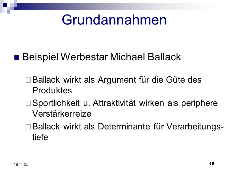 Grundannahmen Beispiel Werbestar Michael Ballack