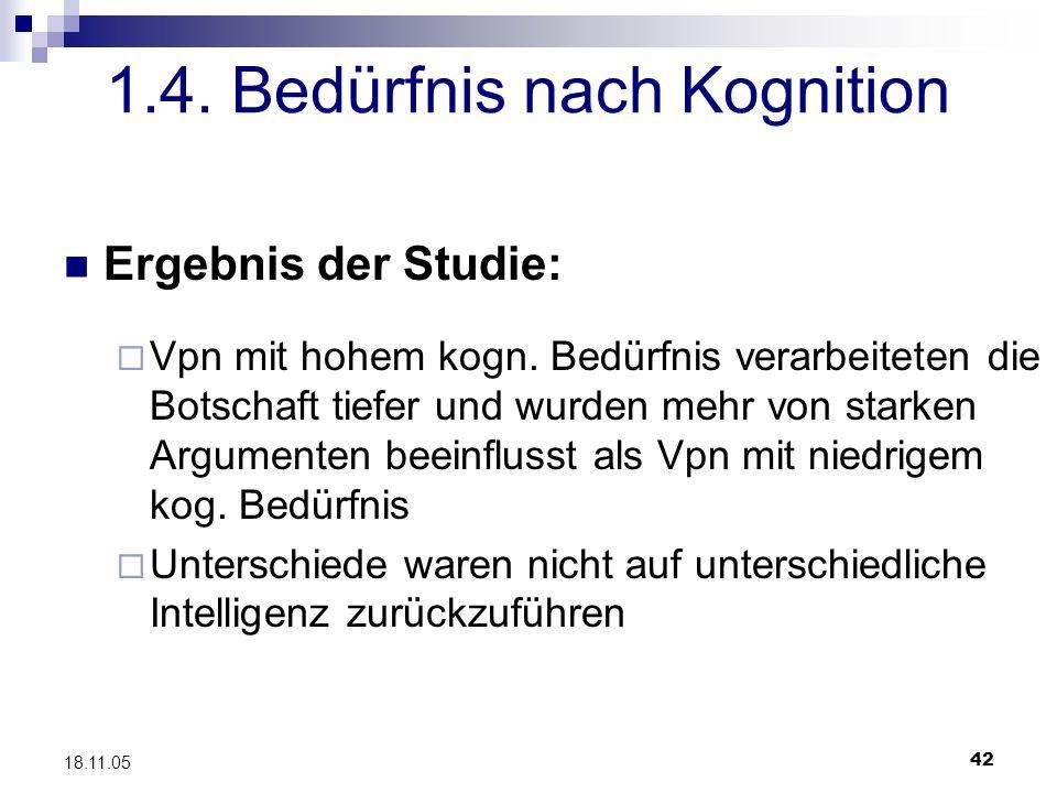 1.4. Bedürfnis nach Kognition