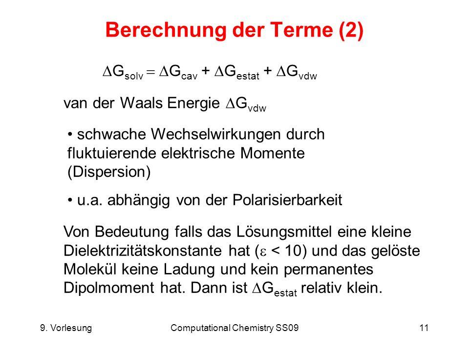 Berechnung der Terme (2)
