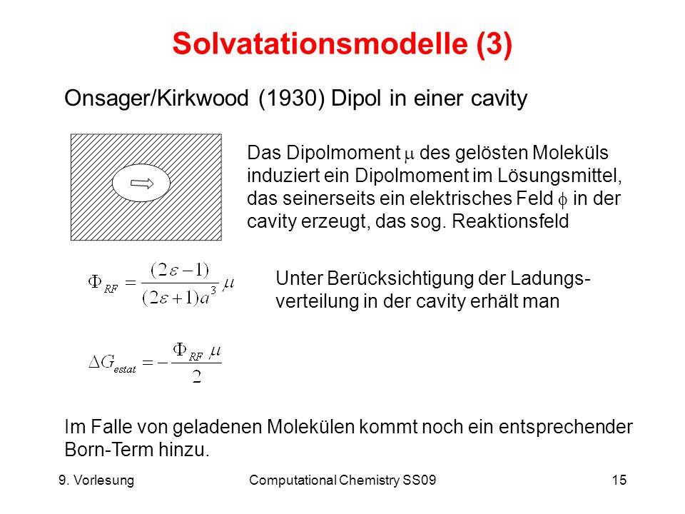 Solvatationsmodelle (3)