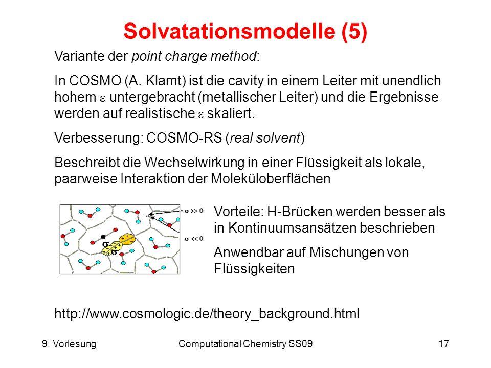Solvatationsmodelle (5)