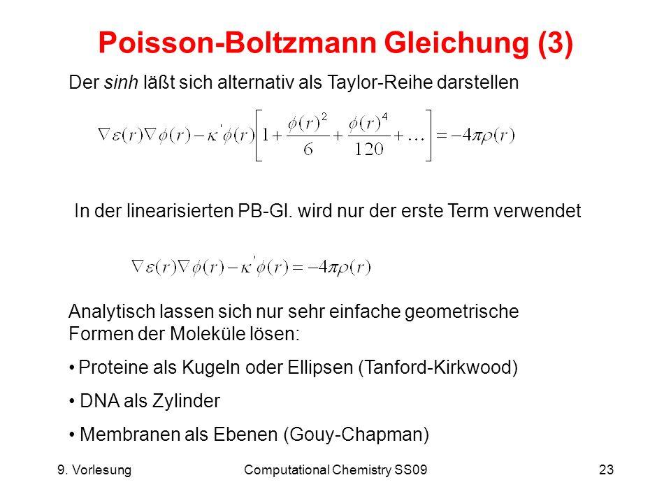 Poisson-Boltzmann Gleichung (3)