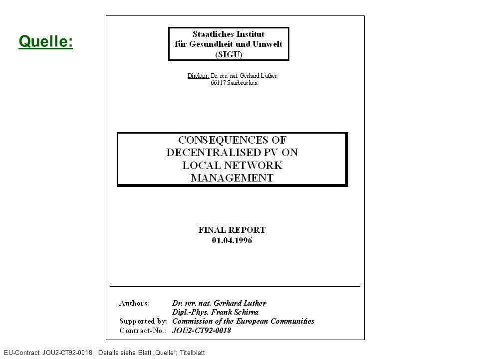 "EU-Contract JOU2-CT92-0018, Details siehe Blatt ""Quelle ; Titelblatt"