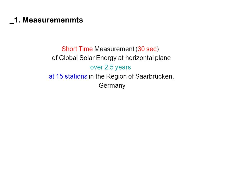 of Global Solar Energy at horizontal plane over 2.5 years