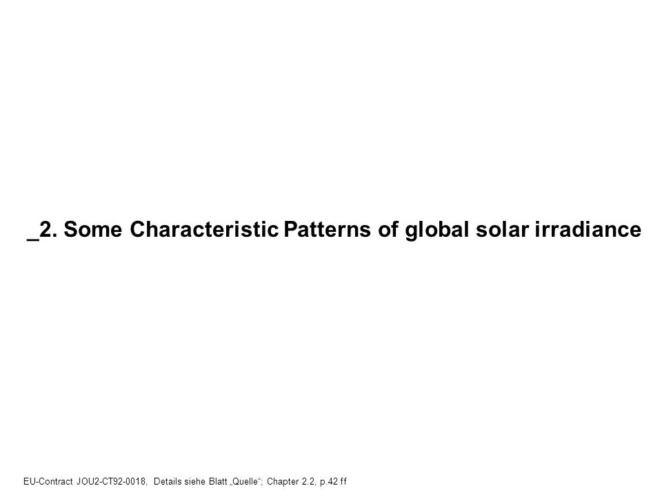 _2. Some Characteristic Patterns of global solar irradiance