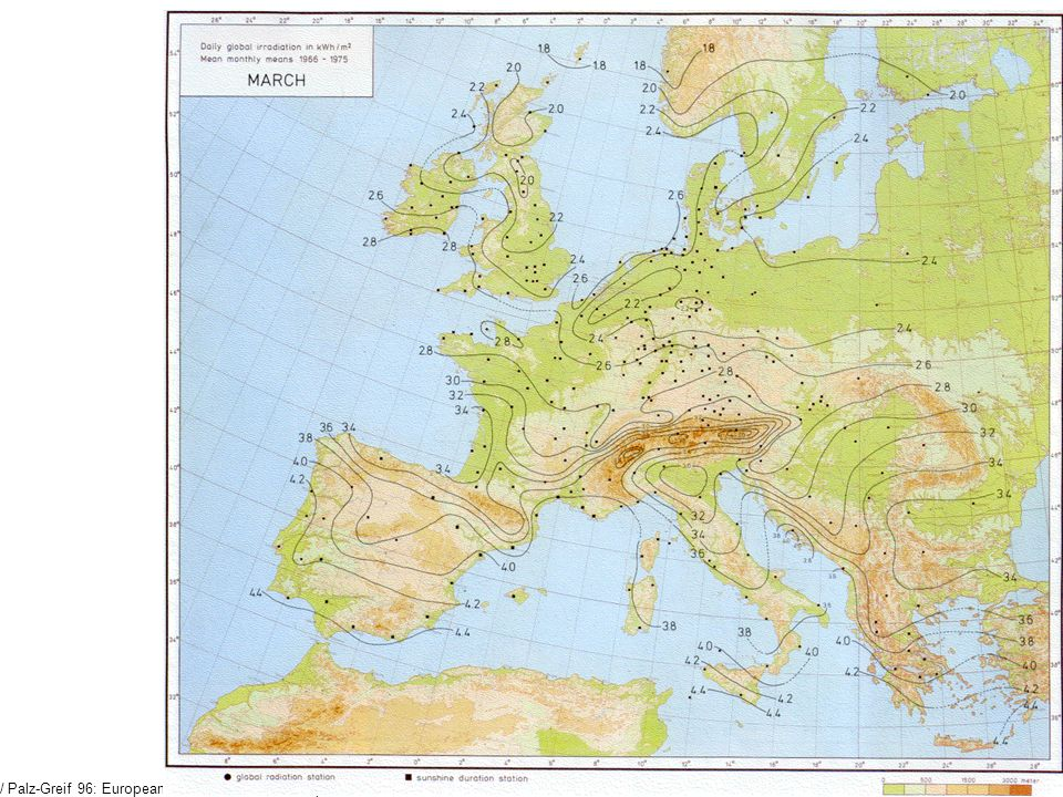/ Palz-Greif 96: European Solar Radiation Atlas ,p. 323