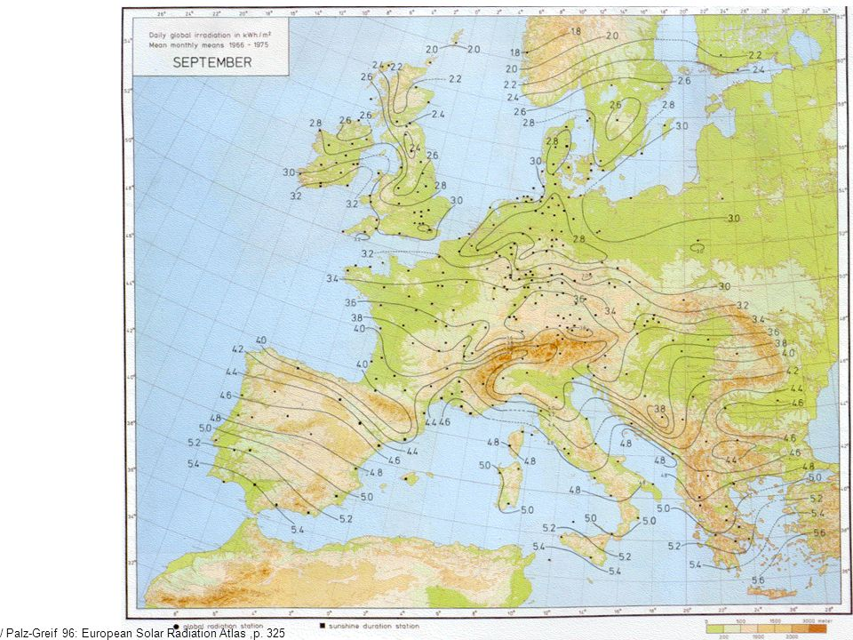 / Palz-Greif 96: European Solar Radiation Atlas ,p. 325